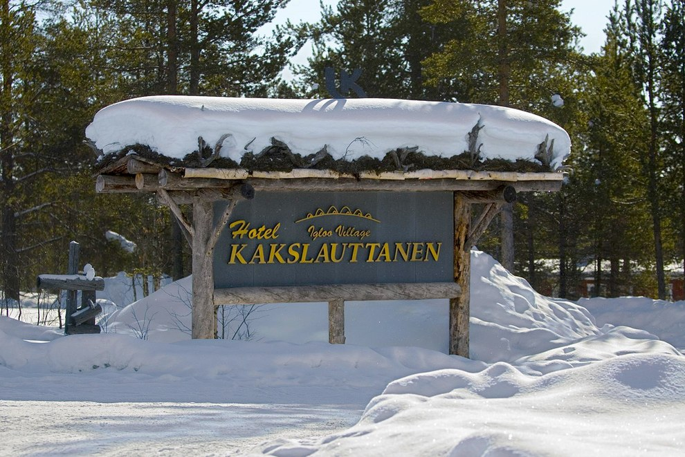 The Kakslauttanen Arctic Resort in Saariselkä