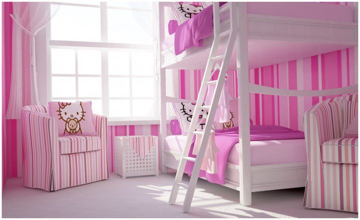 Σχέδια Παιδικού Δωμάτιου για δύο κορίτσια14