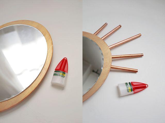 DIY καθρέφτης από χαλκοσωλήνα και ξύλο8