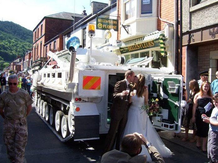 πρωτότυποι τρόποι για να πάει μια νύφη στο γάμο5