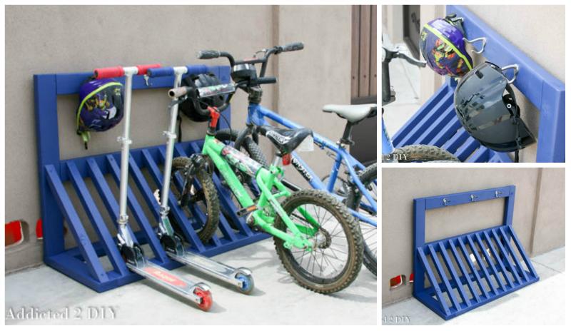 Diy Ιδέες για στάντ ποδηλάτου1