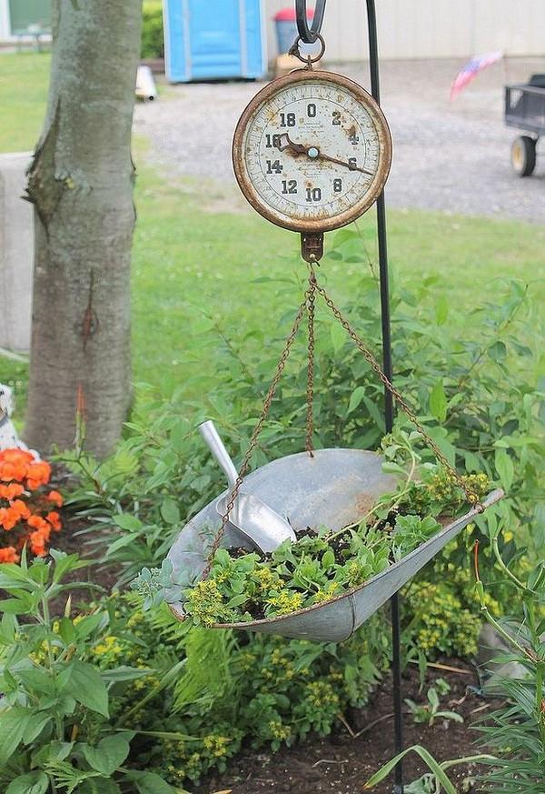 διακόσμηση κήπου με αντίκες3