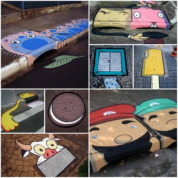 Καλλιτέχνες αλλάζουν τους γκρίζους δρόμους της πόλης σε μια πολύχρωμη γκαλερί με αστείες λεπτομέρειες