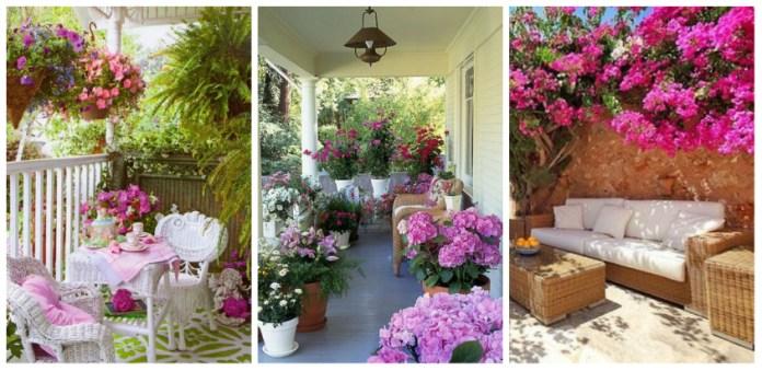 Αλλάζουμε το βλέμμα της βεράντας μας με τη βοήθεια διακοσμητικών λουλουδιών – υπέροχες ιδέες διακόσμησης