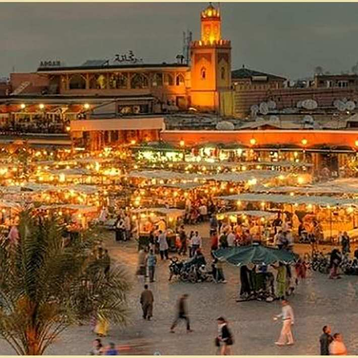 jemaa el-fnaa square Marrakech View