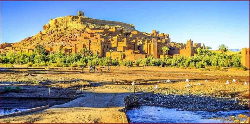 Luxury Sahara Desert tour from Marrakech, kasbah Ait benhadou