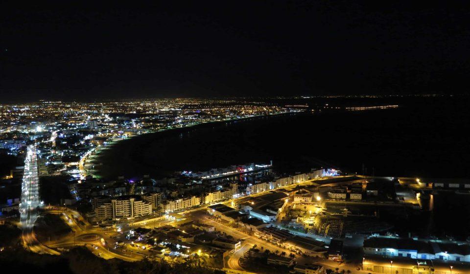 Agadir Morocco by night