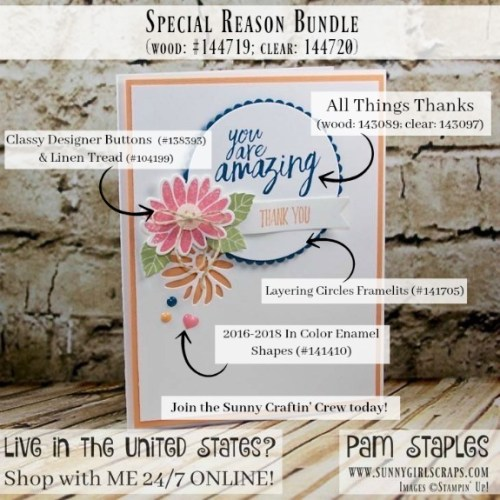 A Special Reason Thank You Card created by Pam Staples, Sunny Girl Scraps.