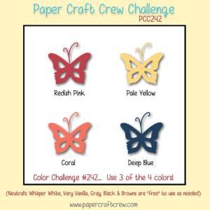 Paper Craft Crew Color Challenge 242 - papercraftcrew.com #pcc2017 #colorchallenge