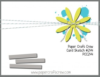 Visit the Paper Craft Crew and play along with the Sketch Challenge 244. #pcc2017 #sketch www.papercraftcrew.com