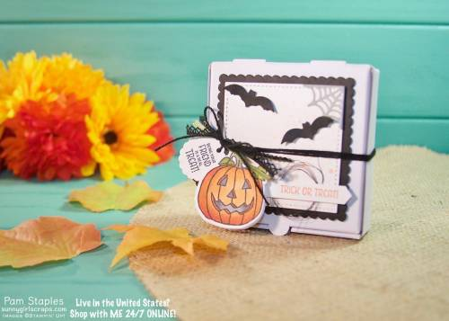 3D Pizza Box with Seasonal Chums featuring the Stampin' Blends