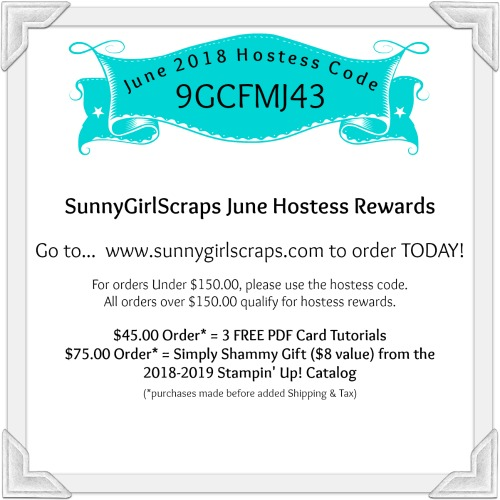 June 2018 Hostess Code