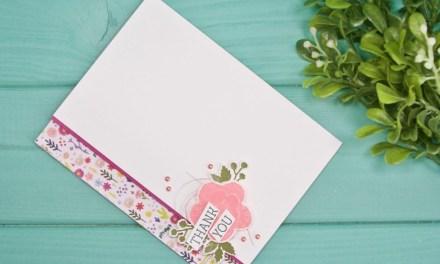 Spring has Sprung Floral Thank You Card