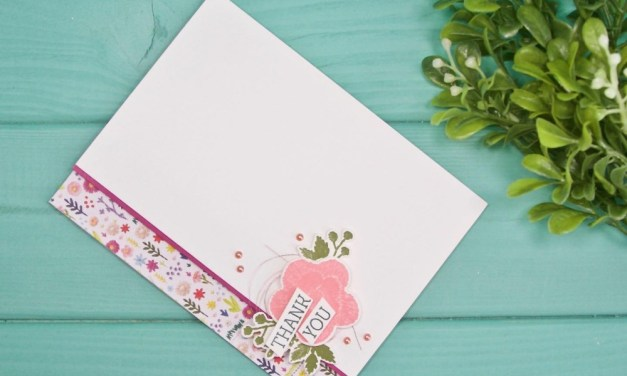 Spring has Sprung Floral Thank You Card