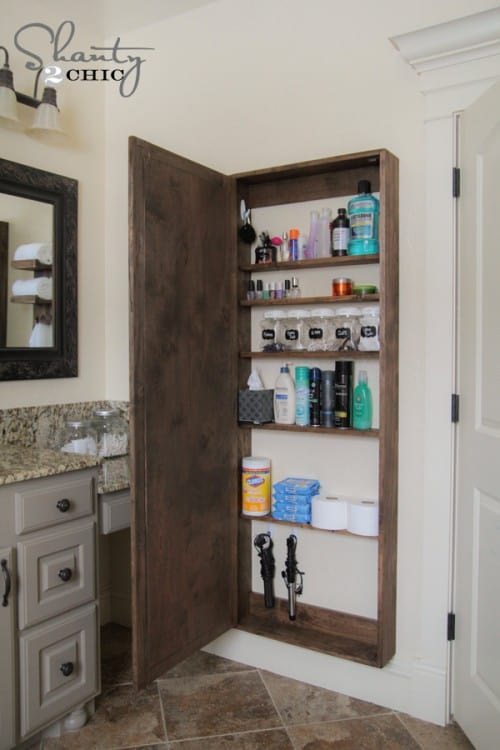 A Large Mirror With A Small Cabinet Behind Is A Great Way To Drastically  Increase Storage In A Small Bathroom. You Should Be Able To Store Several  Items In ...