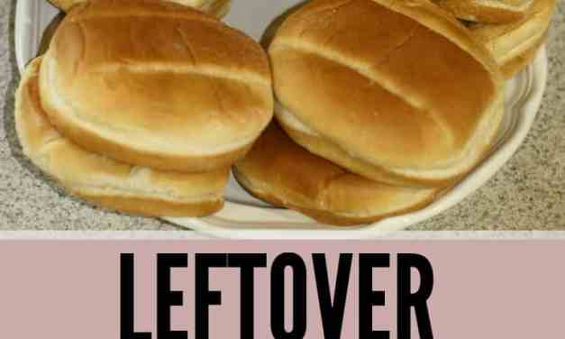 Ways to use leftover hamburger buns and hotdog buns