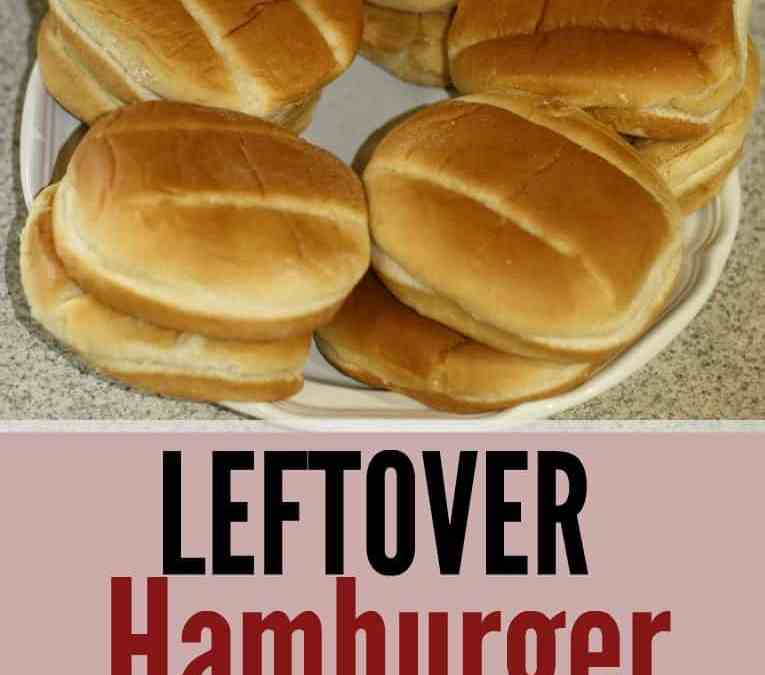 Ways to use leftover hamburger buns and hotdog buns