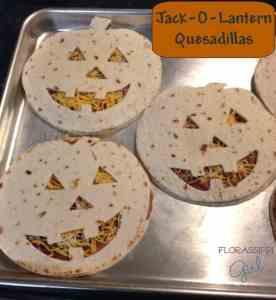 Jack-O-Lantern Quesadillas Halloween Themed food