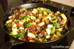 Mexican Zucchini and Beef Skillet