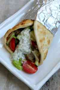 Instant Pot Gyros with Beef and Tzatziki