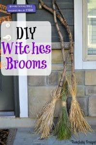DIY Witches Broom Halloween Craft
