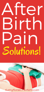 After birth pain solutions