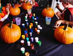 Fun Halloween Activities for Kids - Pumpkin Painting Party