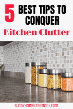 Quick tips to declutter your kitchen counters!