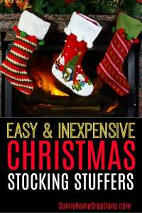 Easy and Inexpensive Christmas Stocking Stuffers
