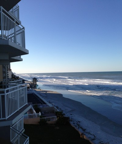 White Surf Condominium Balcony View Daytona Beach Shores