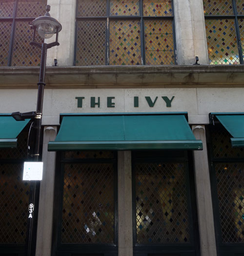 London Bloggers The Ivy