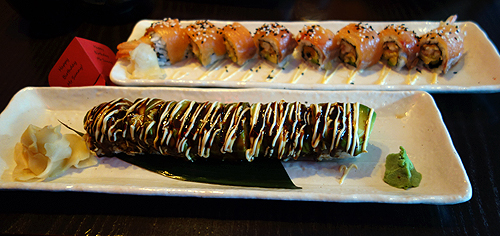 Cocochan Dragon Eel and Avacado Ura Maki