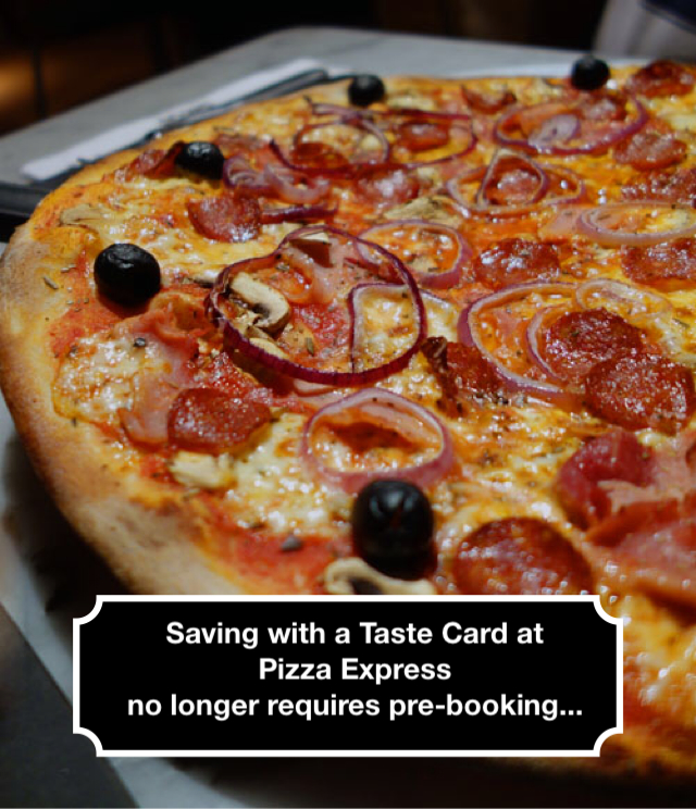 Using Tastecard at Pizza Express