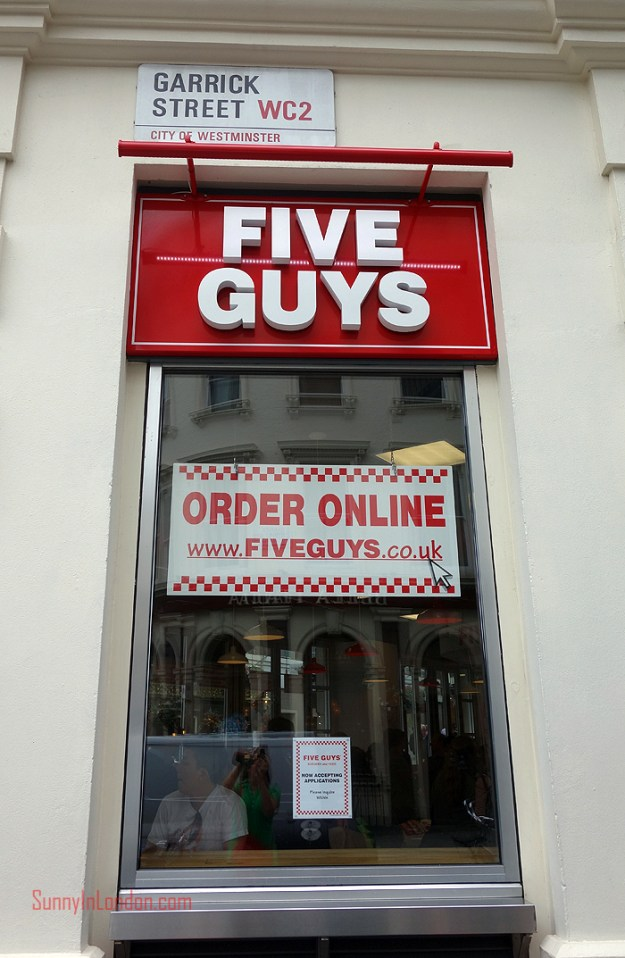 Five Guys London Review