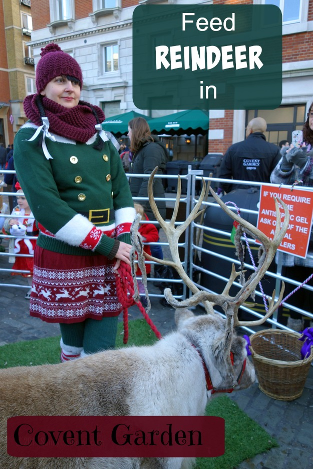 Things to Do in Covent Garden for Christmas- Feed the Reindeer