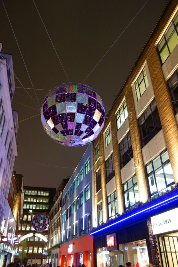 Christmas Things to Do in London Carnaby Lights 2015