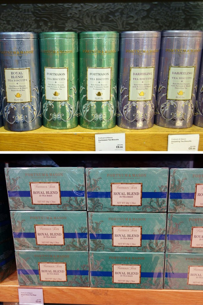 Duty Free Price Fortnum and Mason Tea Biscuits Heathrow London Airport Shopping