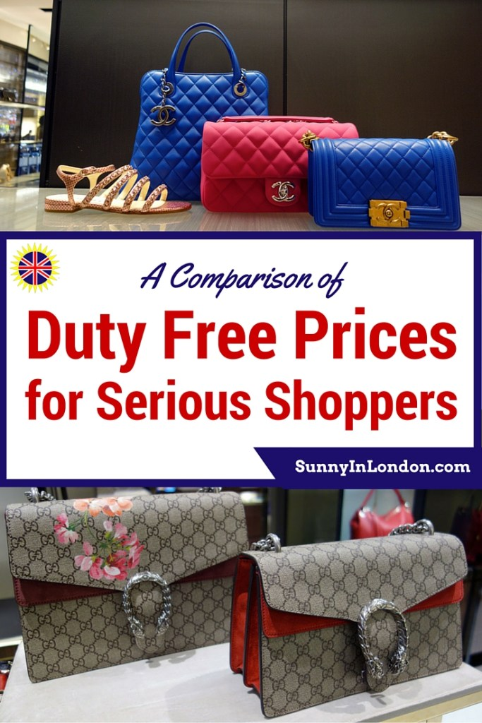 A Comparison of Duty Free Price Shopping between London Heathrow and Atlanta Airport