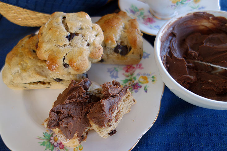 Banana Chocolate Chip Scone Recipe from an American expat living in London