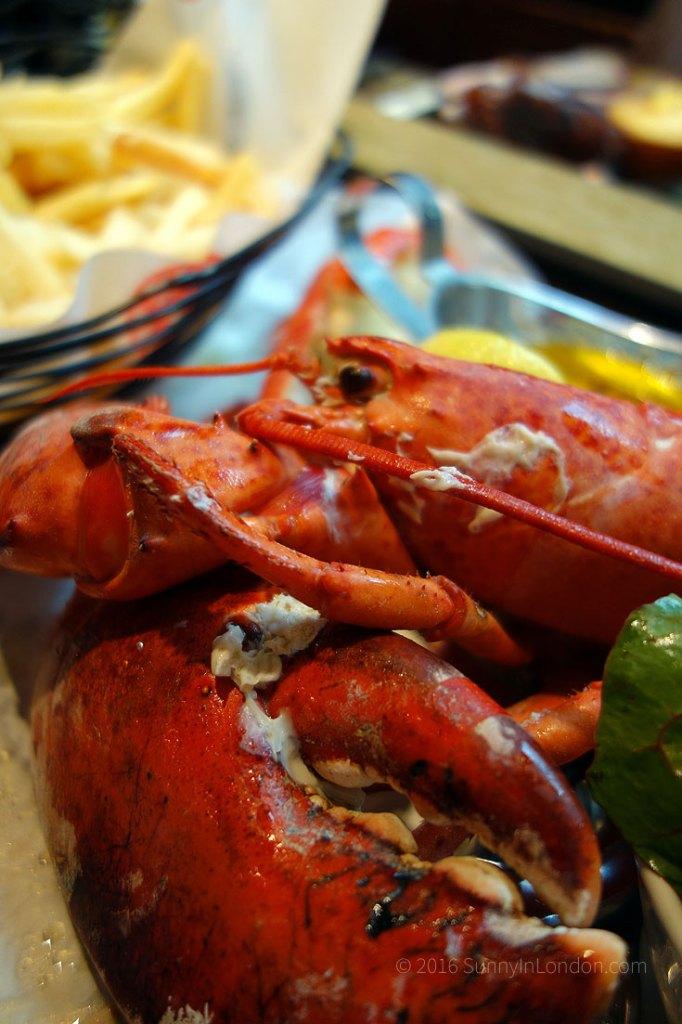 Big Easy Covent Garden Brunch in London lobster