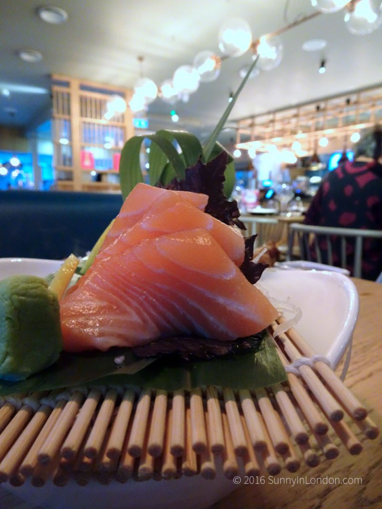 Chi Kitchen London Review Debenhams sashimi
