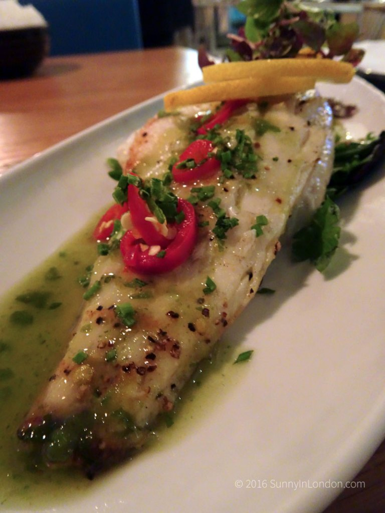 Chi Kitchen London Review Debenhams sea bass chilli lime