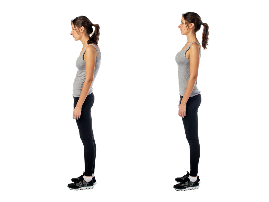 Correct posture can prevent pain.