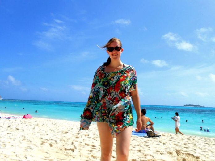 Me at the San Andres beach