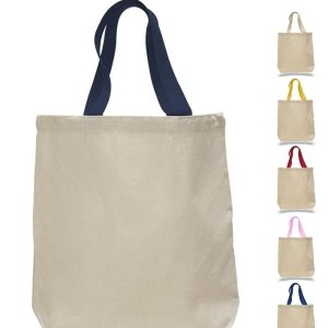 Canvas Tote bag w/contrasting Handles