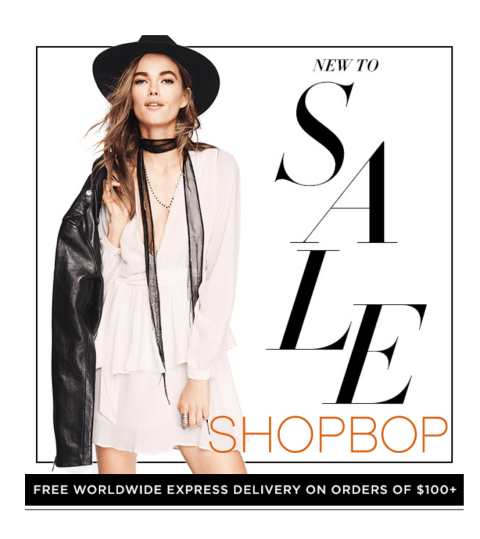 shopbop new to sale 2016