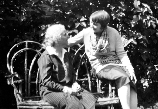 Fanny Y. Cory (Cooney) and Sayre Cooney on trip to Pennsylvania Academy of the fine arts 1930