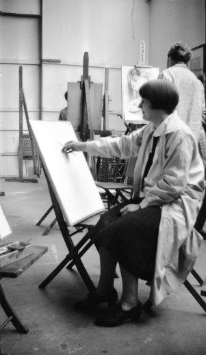 Sayre Cooney drawing at Pennsylvania Academy of the Fine Arts in 1930