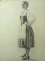 Sayre Cooney 's young woman with apron