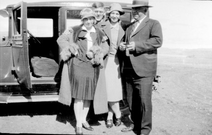 Fanny and Fred Cooney and two friends, unknown